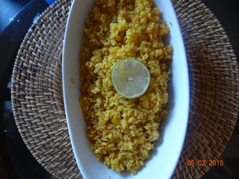 Egyptian seafood rice