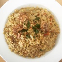 Maqluba briyani rice